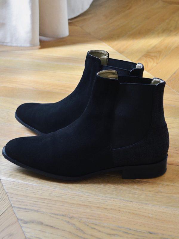 boots chelsea noire femme grande pointure